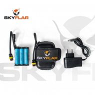 SKYFLAR Li-Ion Battery Power Pack Kit 12.6V For Paramotor PPG LED Strobe - Inc Batteries
